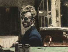 Leon Spilliaert Self-Portrait, 3 November Dimensions: 19.57 X 25.59 in (49.7 X 65 cm) Medium: Watercolour, colour chalk, India ink, lavis Creation Date: 1908