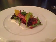 Path Valley Beet Salad with Goat Cheese Cream and Candied Walnuts: Adour by Alain Ducasse-Washington, D.C.