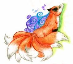 nine tail fox drawing - Google Search