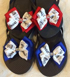 Cheer flip flops by Bowlicious4me on Etsy