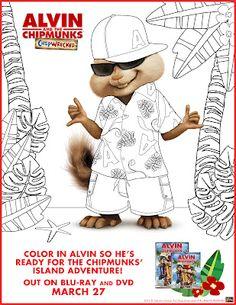Alvin coloring book