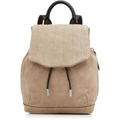 Rag & Bone Pilot Suede Backpack (€370) ❤ liked on Polyvore featuring bags, backpacks, backpack, accessories, purses, beige, tote handbags, beige backpack, shoulder tote bags and oversized backpacks