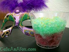 Glow in the Dark Mardi Gras Singature Drink Slush.