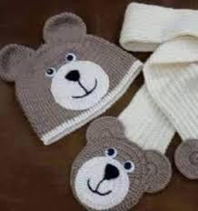 Αποτέλεσμα εικόνας για como fazer touca de croche ursinho