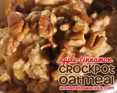 Overnight Oatmeal that will not burn in the crockpot! Apple Cinnamon Steel Cut Oatmeal