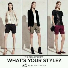What's your style? The Roll-Up Short. Encuéntralo en Armani Exchange Antara.