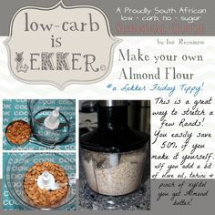 Low Carb is lekker Almond Flour Banting Diet, Banting Recipes, Ketogenic Recipes, Diabetic Recipes, Low Carb Recipes, Real Food Recipes, Lchf, Banting Bread, Banting Desserts