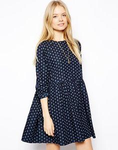 ASOS+Denim+Spot+Smock+Dress
