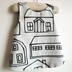 French A La Ville In the City Reversible by chocolatineboutique, $25.00