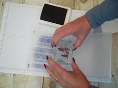 Photo tutorial as well as video for woodland texture embossing folder background images