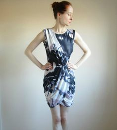 Jersey Mini Dress batik print