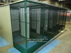 5 Bay Custom Built Aviary. With Lock section in the rear.