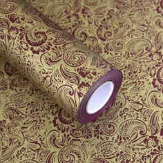 """Roll Gift Wrapping Paper 1Roll :  Paisley Brown 20.8"""" X (L) 32.8ft"""" #Unbranded…"""