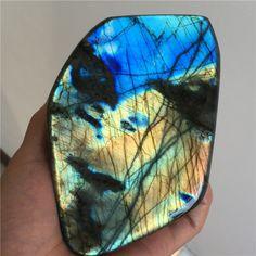 1028g Natural Labradorite Crystal Rough Polished From Madagascar #2786