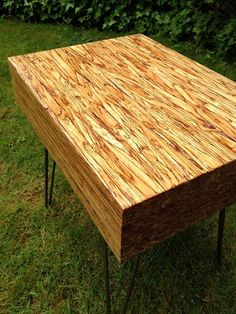 Lovely Butcher Block Table With Hairpin Legs Modern Home Wood Wooden Leg
