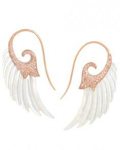 Noor Fares Pearl Wing Earrings