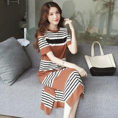 Striped Maternity Dress Breast Feeding Dresses Fahion High Waist Pregnancy  Nursing Clothes For Pregnant Women Summer 10de696fd