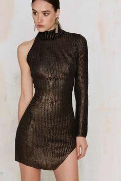 Nightwalker Jungle Jane Metallic Knit Dress - Dresses