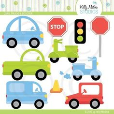 Items similar to Cute Cars, Trucks, and Scooter - Clip Art Set Digital Elements for Cards, Stationery and Paper Crafts and Products on Etsy Car Themed Parties, Studios, Winter Travel Outfit, Outfit Winter, Car Themes, Clip Art, Car Drawings, Cute Cars, Poster Prints