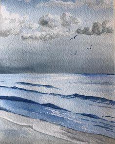 Sea studio ___________________________________________ #sketch #sketchoftheday  #watercolor #watercolour #watercolours #watercolors… Watercolor Ocean, Watercolours, Sketch, Waves, Sea, Studio, Outdoor, Sketch Drawing, Outdoors