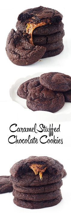 Deliciously dark chocolate cookies with a sticky caramel surprise inside from Sweetest Menu