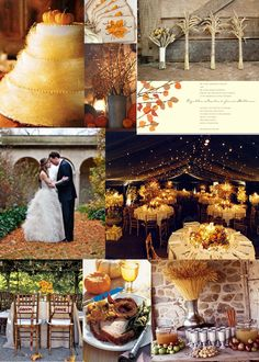 love the reception and her dress and the willow branches!!! Thanksgiving Wedding