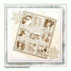 Crafty Individuals CI-420 - 'Christmas Postage Stamps' Art Rubber Stamp, 85mm x 100mm