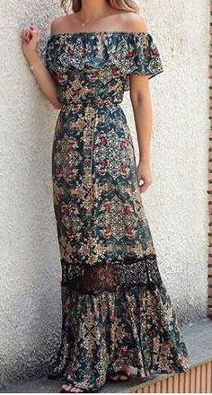 Bohemian maxi dress, boho style clothing, boho-chic clothes, gypsy summer long dress on boho boutique 30 Outfits, Mode Outfits, Cute Dresses, Beautiful Dresses, Summer Dresses, Summer Outfits, Awesome Dresses, Dresses Dresses, Dresses Online