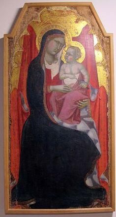 Benedetto di Bindo - Madonna col bambino - 1390-1400 ca - Museo diocesano, Siena