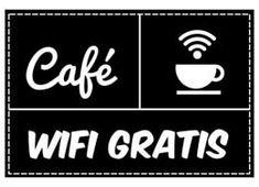 Listo para imprimir cartel #wifi gratis para tu café