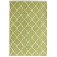Moroccan Tile Rug - Green