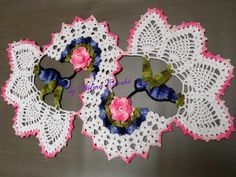 Wilma Crochê: Centro de mesa beija flor