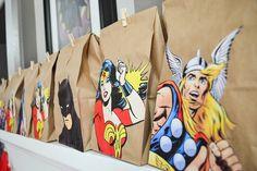 DIY Goody Bags for Superhero Party + Free Printables - Paixão Designs