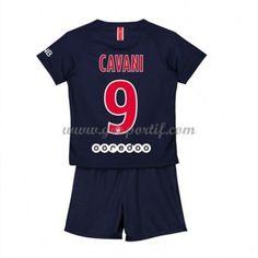 Paris Saint Germain PSG maillot de foot enfant 2018-19 Edinson Cavani 9 maillot domicile Maillot Paris Saint Germain, Psg, Saints, Unitards, Asylum