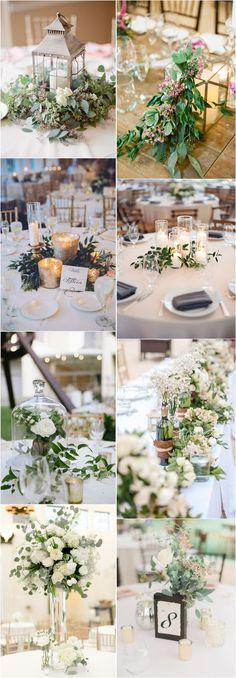 Greenery eucalyptus rustic wedding centerpieces #green #wedding #weddingideas #dpf #deerpearlflowers