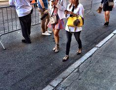 #celine + #fendi at #alice+Olivia #nyfw street style
