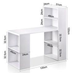 ideas office furniture modern desk shelves for 2019 Home Office Storage, Home Office Design, Storage Shelves, Storage Ideas, Storage Solutions, Diy Furniture Renovation, Home Office Furniture, Furniture Legs, Garden Furniture