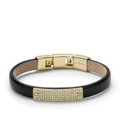 Fossil Pavé Plaque Bracelet, JF01900| FOSSIL® Jewelry