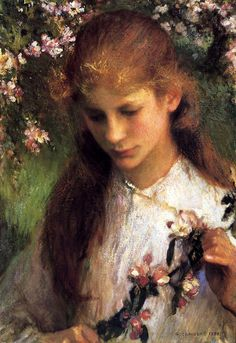 Apple Blossom ~George Clausen (1852 – 1944, English)