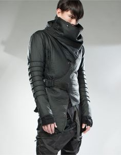 Goth Ninja, Cyberpunk Fashion, Dystopian Fashion, Future Fashion, Dark Fashion, Urban Fashion, Modern Fashion, Dieselpunk, Men Fashion Design