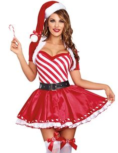 Womens Sexy Spaghetti Straps Christmas Santa Costume Red ($31) ? liked on Polyvore featuring costumes red womens santa costume santa suiu2026  sc 1 st  Pinterest & Womens Sexy Spaghetti Straps Christmas Santa Costume Red ($31 ...
