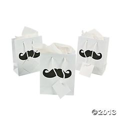 Small Moustache Party Gift Bags, Gift Bags and Gift Boxes, Gift Bags, Wrap & Ribbon, Party Themes & Events - Oriental Trading