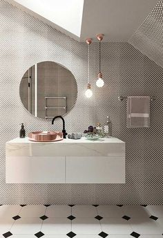 The 25 Chic Mirror Decoration You Will Love - Amazing Bathroom Mirror Design - Bathroom Mirror Design, Bathroom Interior Design, Modern Bathroom, Interior Decorating, Bathroom Mirrors, Small Bathroom, Bathroom Ideas, Minimalist Bathroom, Bathroom Renos