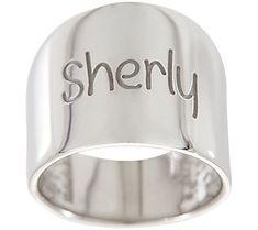 Bronze Personalized Graduated Band Ring byBronzo Italia