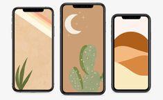 6 Boho iPhone Wallpaper Design, Minimalist Art, Modern Botanical, Minimalist & Abstract, Desert Phone Background, Instant Download, Boho