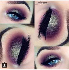 Purple and green smokey eye (Instagram _tiarni_ )