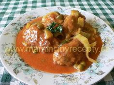 Dalmatské čufty – Maminčiny recepty Stew, Food And Drink, Meat, Chicken, Foods, Food Food, Food Items, One Pot, Cubs