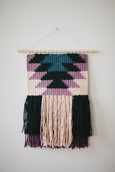 Handmade Weaving // Woven Wall Hanging by KateLoveGoods on Etsy