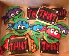 TMNT party cookies