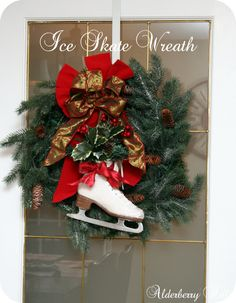 Ice Skate Wreath Project   @frommyfrontporchtoyours